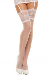 Romance stockings white Pończochy