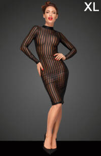 F182 - XL - Classic dress made of elastic tulle
