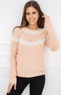 Mona Light Coral Y5202 Sweter
