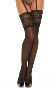 Romance stockings black Pończochy